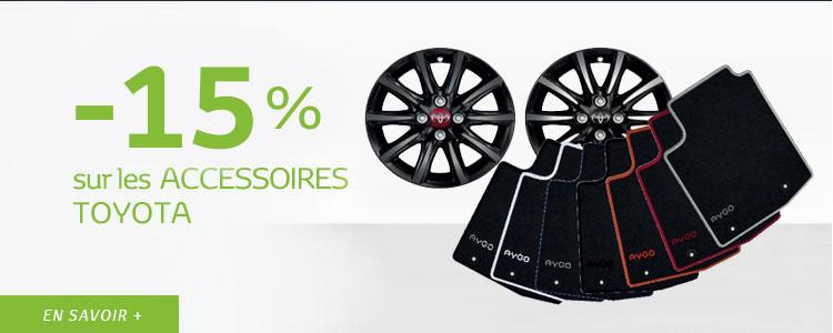 - 15 % sur TOUS les accessoires TOYOTA