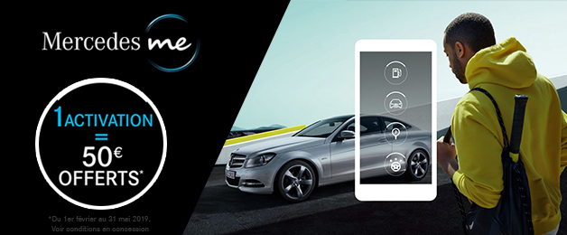 Offre Mercedes me - 50€ Offerts*