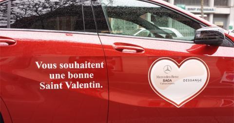 La Saint Valentin avec SAGA Mercedes et Dessanges Valenciennes