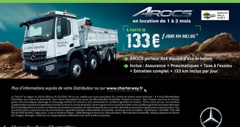 Salon Intermat 2018 : offre CharterWay Arocs